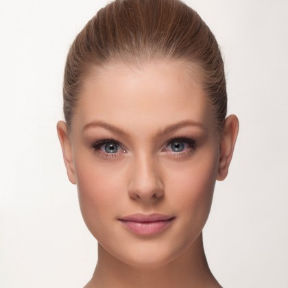 Mink Lashes: natural flirt front view eyes open
