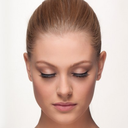 Mink Lashes: Bombshell Eyes front view closed eyes
