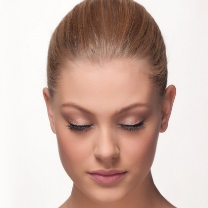 Mink Lashes: Parisian Flare front view closed eyes