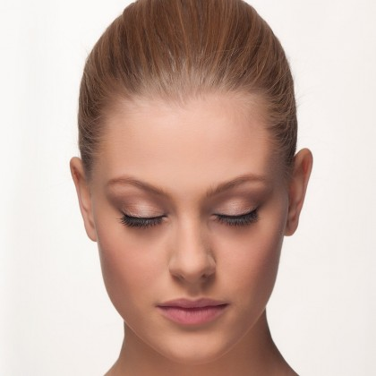Mink Lashes: Ooh-La-Lash front view closed eyes