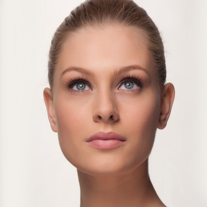 Mink Strip Lashes: Or-Lash-M front view eyes open