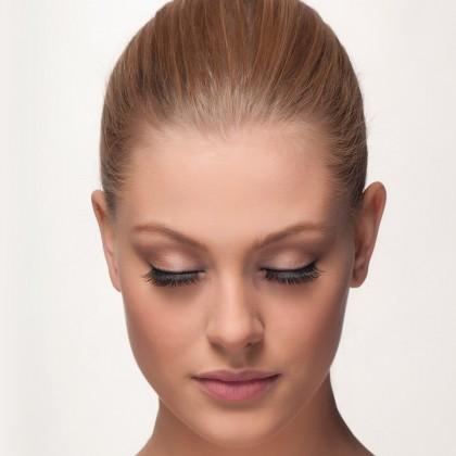 Mink Lashes: Lash Whisperer front view closed eyes