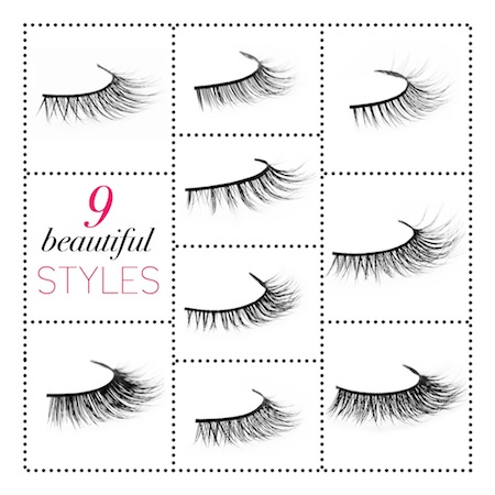 our 9 custom designed lashes