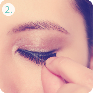 measure before you apply false eyelashes