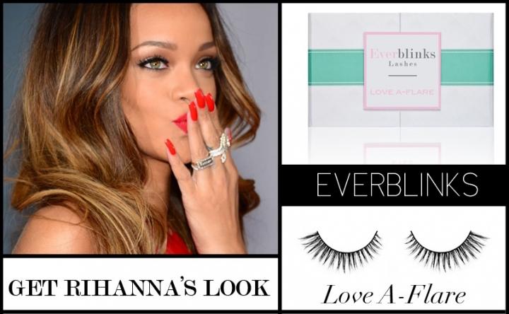 Mink Lashes: Rihanna wearing Love-A-Flare
